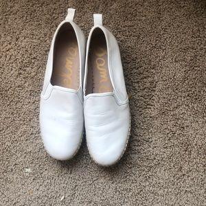 Sam Edelman white leather espadrilles